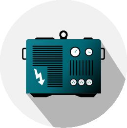 udlejning af el generator ikon